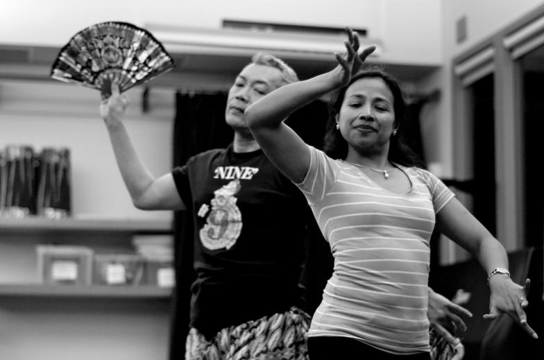 Wayan Melayu and choreographer Ni Made Pujawati ©Jamie Zubairi 2014