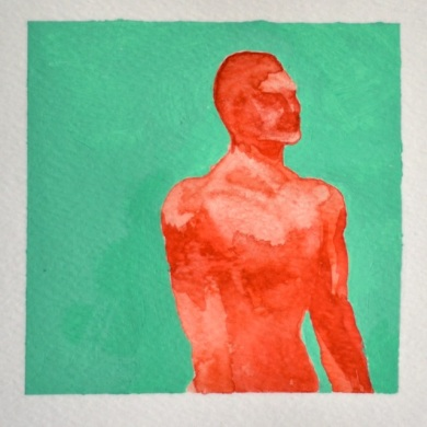 Red Man, Watercolour on Paper, by Jamie Zubairi ©2014