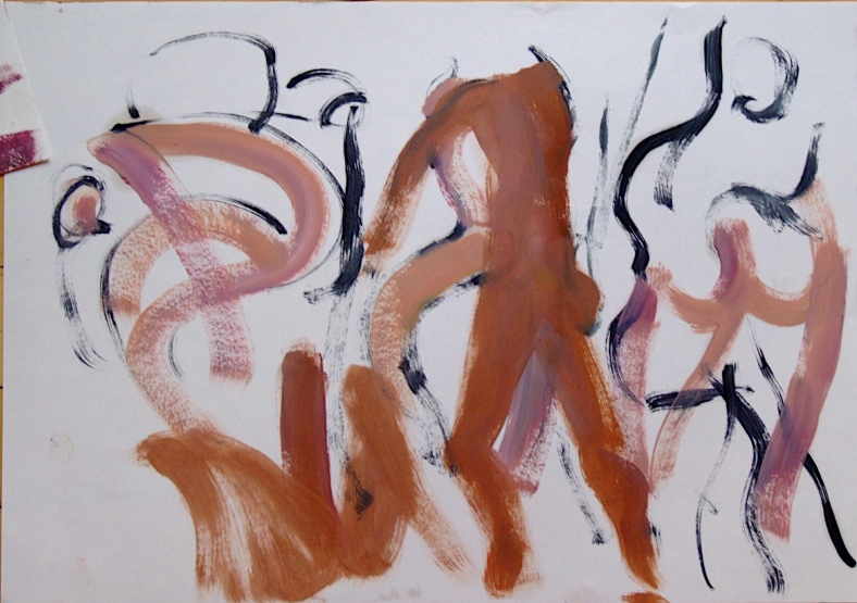 Dancers - Oil on Paper 2009 by Jamie Zubairi