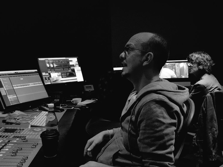 Tupaq Felber at the helm of the edit suite